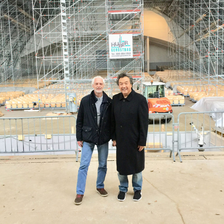 Chairman Paul Lam with Walter Rutz, Managing Director of Oberammergau Passion Play 2020, on a private inspection tour of the iconic Passion Play theater undergoing significant renovation.