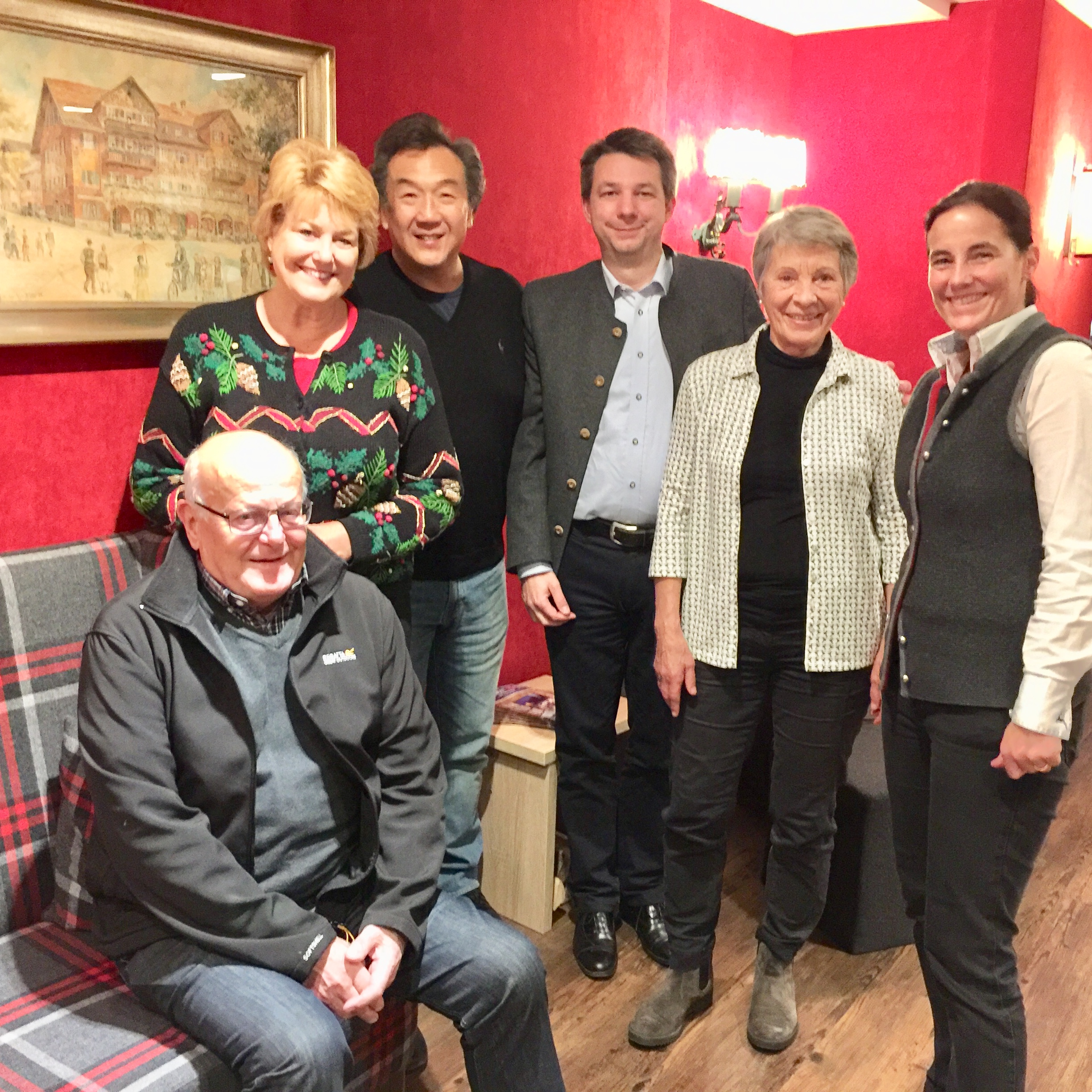 Paul and Susie Lam on a recent visit with family that owns the Wittelsbach Hotel located in the heart of Oberammergau. The town's best property has been the favored spot for our chairman's tour groups since 1984 and again in 2020.